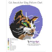Beaded Cat Suncatcher Ring Bead Graph